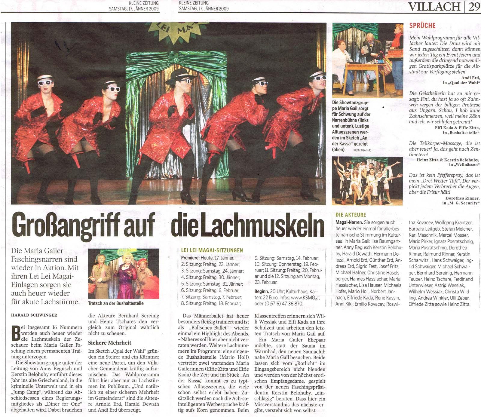 Fasching 2009 Presse3